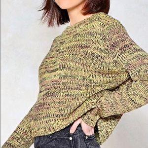Nasty Gal Green Knit Sweater